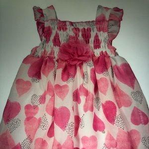Fuchsia heart sleeve bubble dress